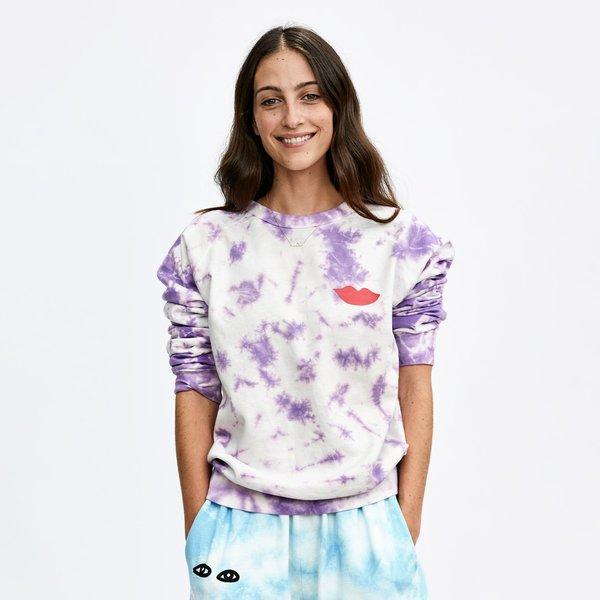 Clare V. Sweatshirt - Violet Tie Dye