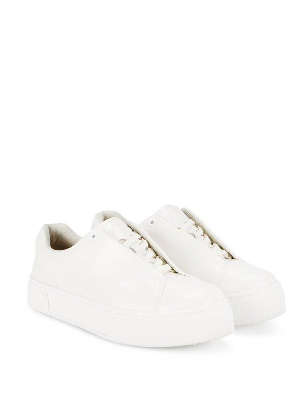White Doja Leather Sneakers