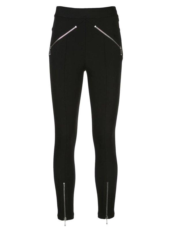 ALEXANDER WANG Zip-Embellished Skinny Trousers - Black