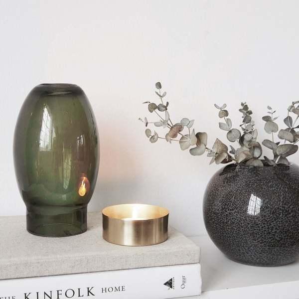 An Artful Life Tea light candle stand - grey/green