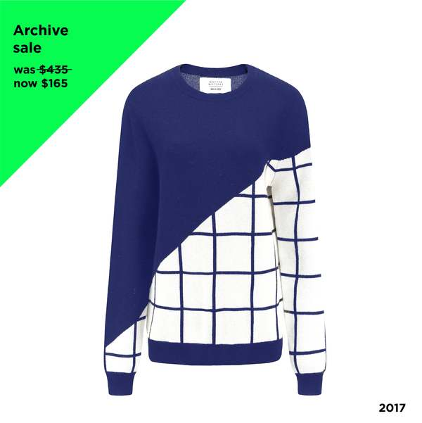 MATTER MATTERS Grids Crew Neck Wool and Cashmere-Blend Pullover - NAVY
