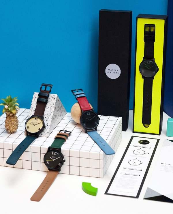 Matter Matters BAY Wristwatch - Blue/Brown