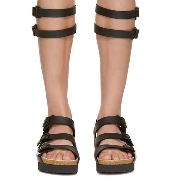 c85ae06e3d5 Sacai Luck Leather Multi-Strap Gladiator Sandal