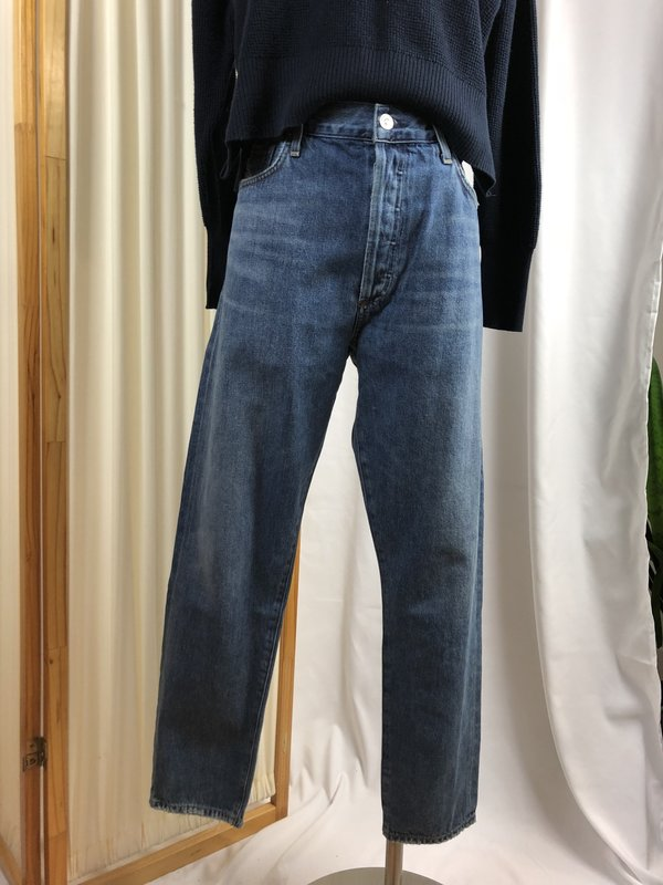[Pre-loved] Citizens of Humanity High Rise Classic Fit Crop Denim - Medium Wash