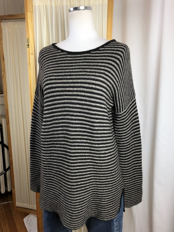 Margaret O'Leary Striped Tunic Sweater (L)