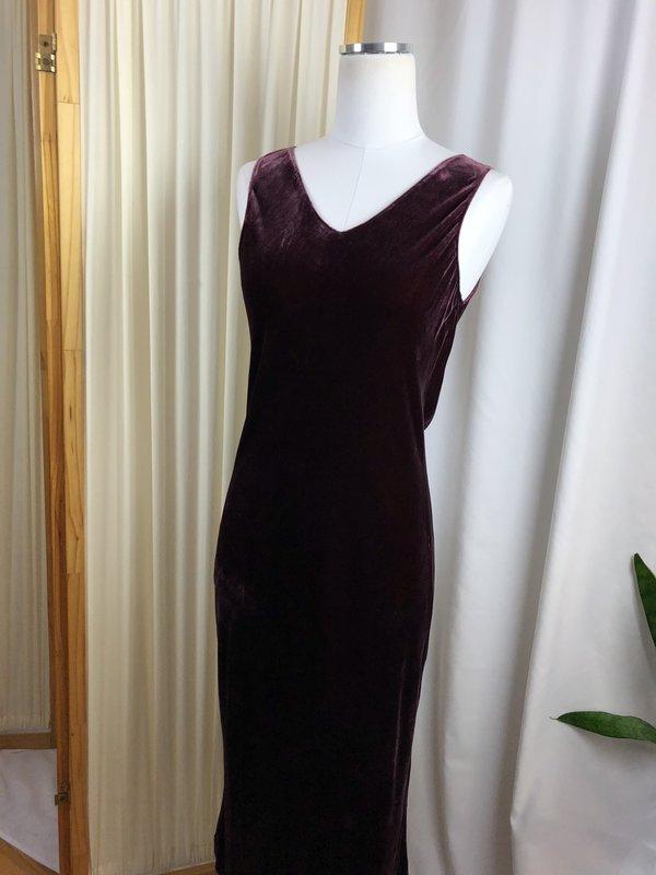 Margaret O'Leary Velvet Maxi Dress (M)