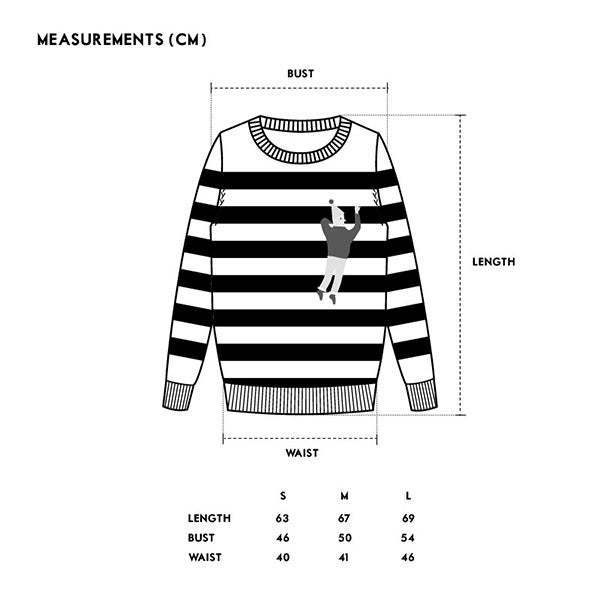 Unisex MATTER MATTERS Crew Neck Intarsia Wool/Cashmere Blend Sweater - White/Light Blue