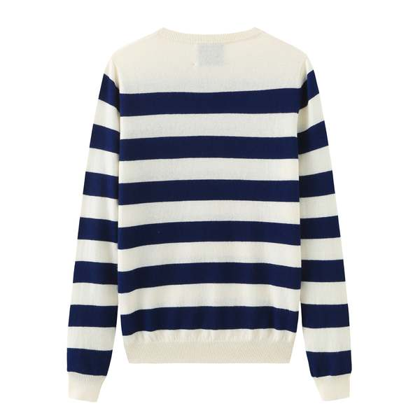 Unisex MATTER MATTERS Neck Intarsia Wool and Cashmere Blend Sweater - White/Black