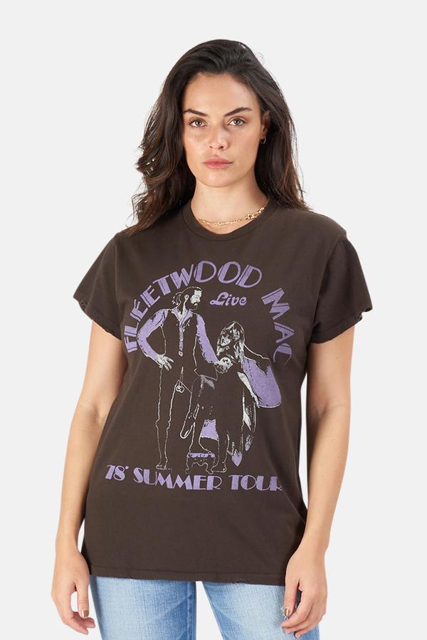 MadeWorn Rock Fleetwood Mac '78 T-Shirt - Dirty Black