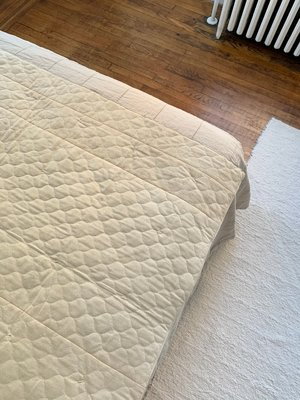 DUO NYC DENIM PATCHWORK THROW QUILT - NATURAL