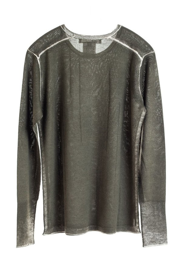 Paychi Guh Printed L/S Crew - Olive