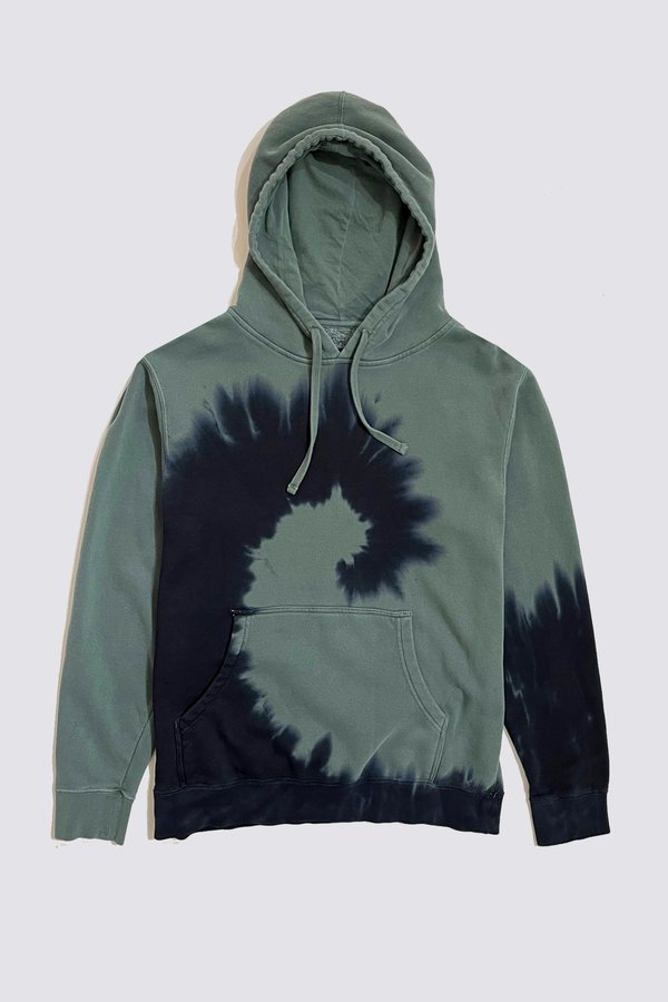 Assembly Tie Dye Hoodie - Forest Green