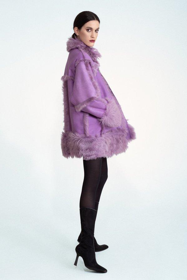 Jovana Markovic Iskra Coat - Purple