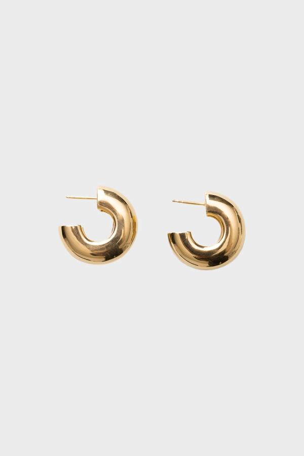 Tire Earrings-Gold