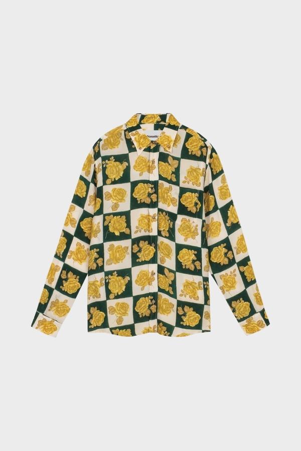 Nanushka Kaleb Shirt - Rose Check