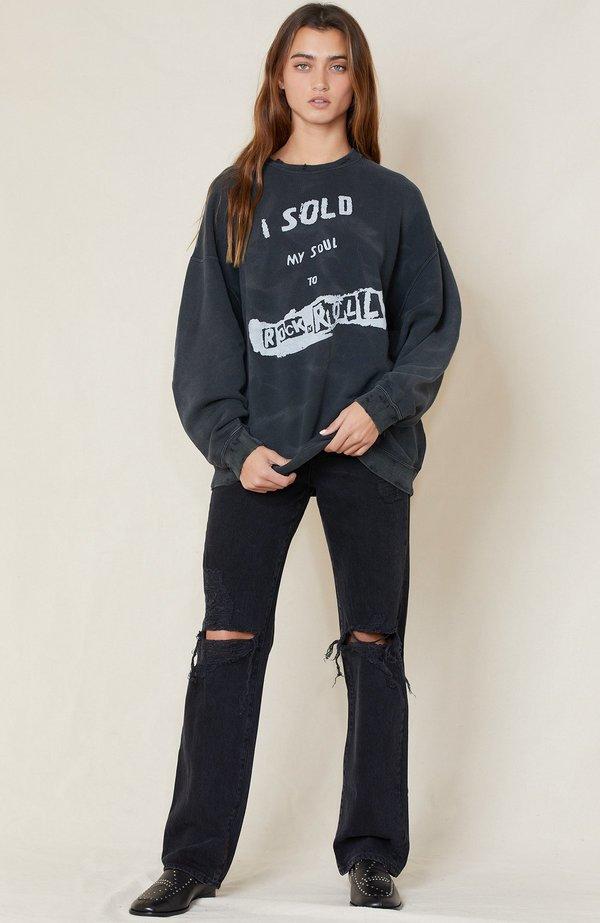 R13 I Sold My Soul Sweatshirt - Acid Black