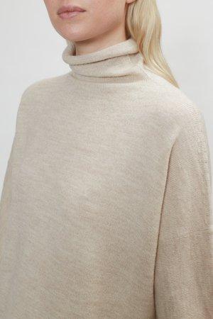 Lauren Manoogian Fine Rollneck Sweater in Hessian