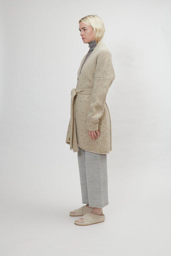 Lauren Manoogian Grandpa Cardigan - Ecru Tweed