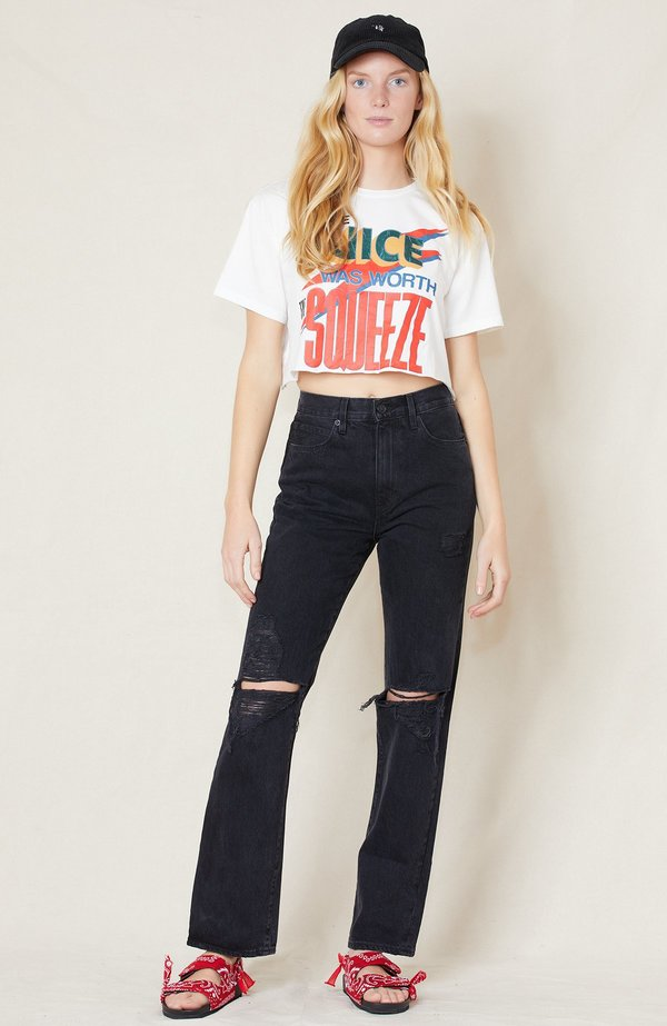Mother Denim Slouchy Cut-off Tee - Juice Was Worth The Squeeze