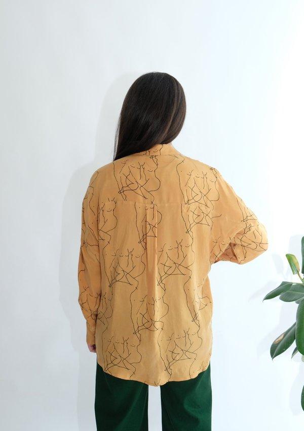 OhSevenDays Fiorenza long sleeve shirt - mustard