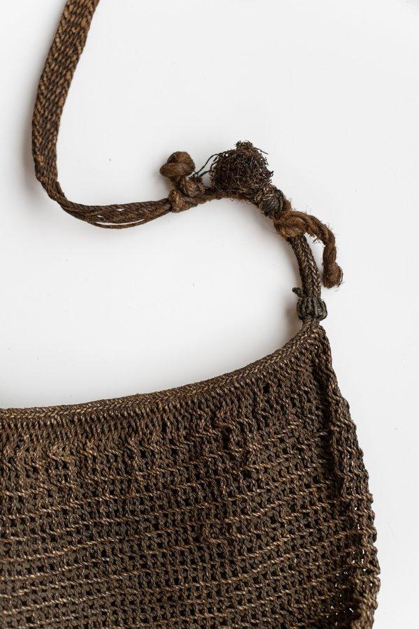 Vintage Tibetan Woven Jute Bag
