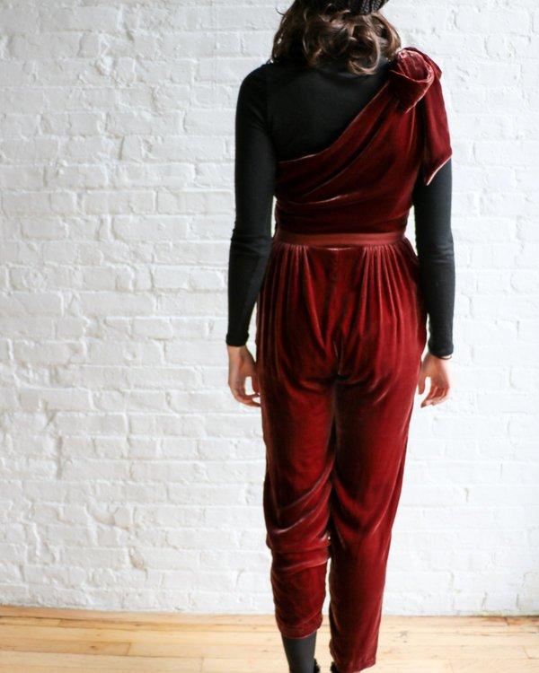 [Pre-loved] Ulla Johnson Tess Velvet Jumpsuit - Dark Mauve