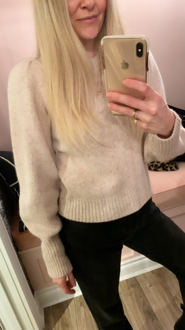 A.L.C. Kari Crewneck Sweater - Beige