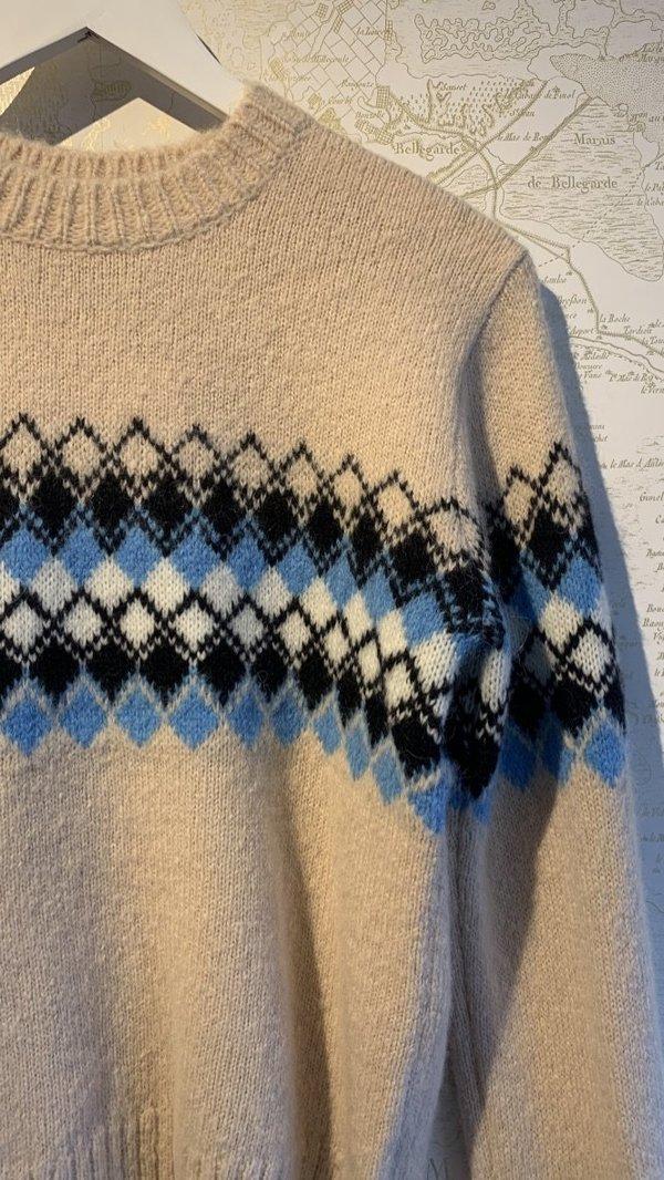 A.L.C. Nathan Fair Isle Sweater - beige multi
