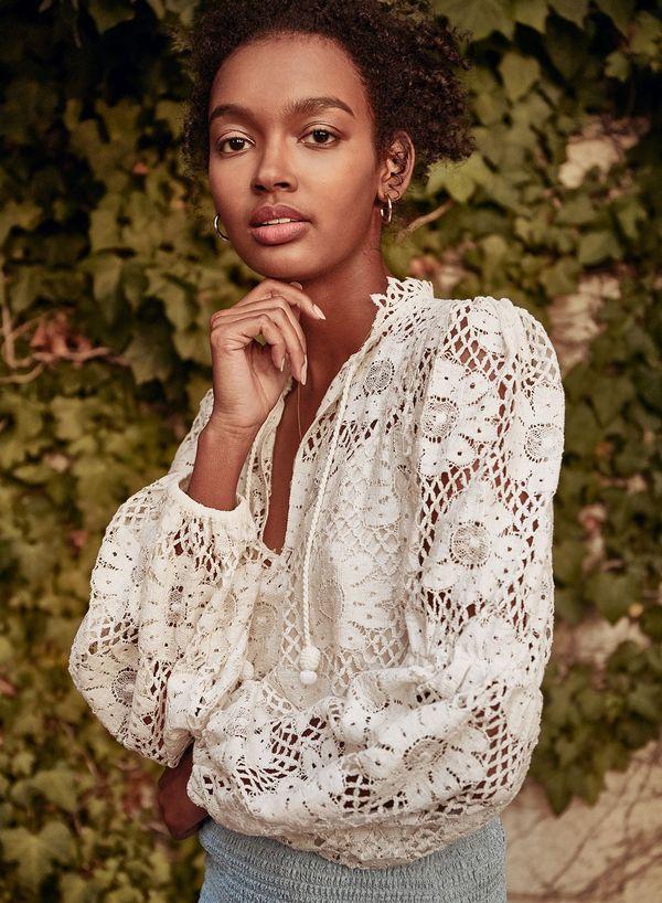 Saylor Alexandrite Blouse - Ivory
