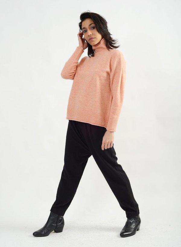 Meg Cozy Mock Neck Sweater - Pink