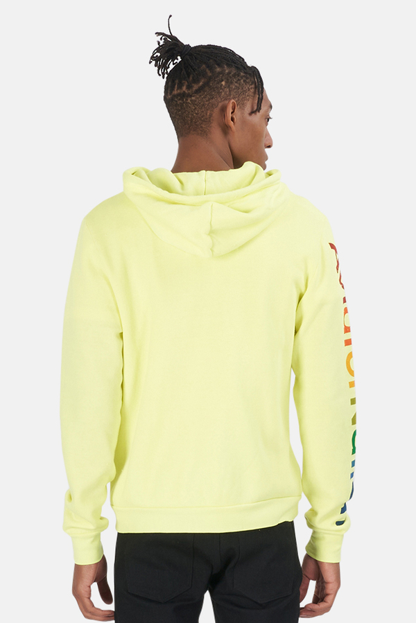 Aviator Nation Men's Zip Hoodie Sweater - Yellow