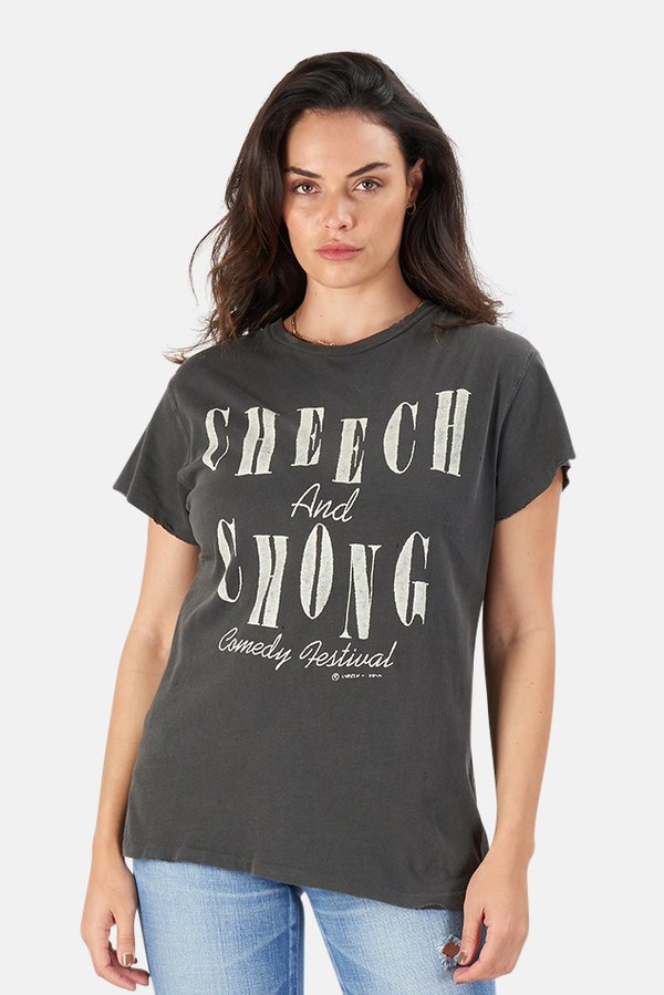 MadeWorn Rock Cheech & Chong Amsterdam T-Shirt - Black Pigment
