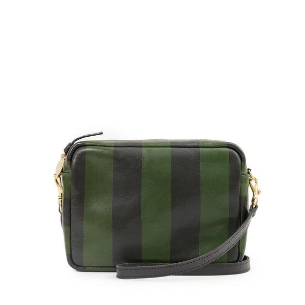 Clare V. Midi Sac - Black Fern Stripe