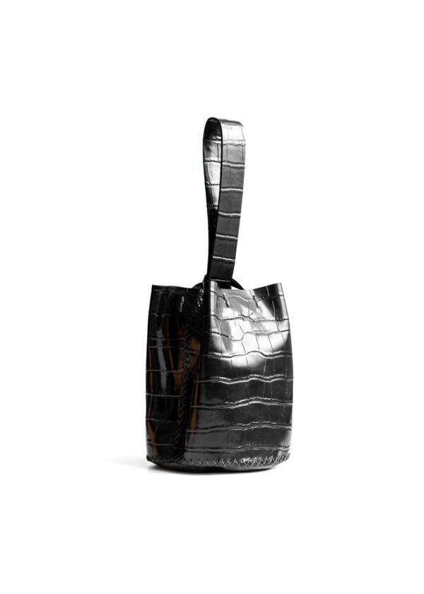 VOLTA ATELIER Navigli bag - black crocco embossed