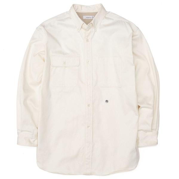 Big Button Down Chino Wind Shirt 'Natural'