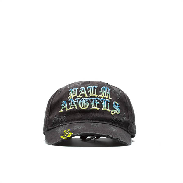 PALM ANGELS Hue Gothic Logo cap - Black