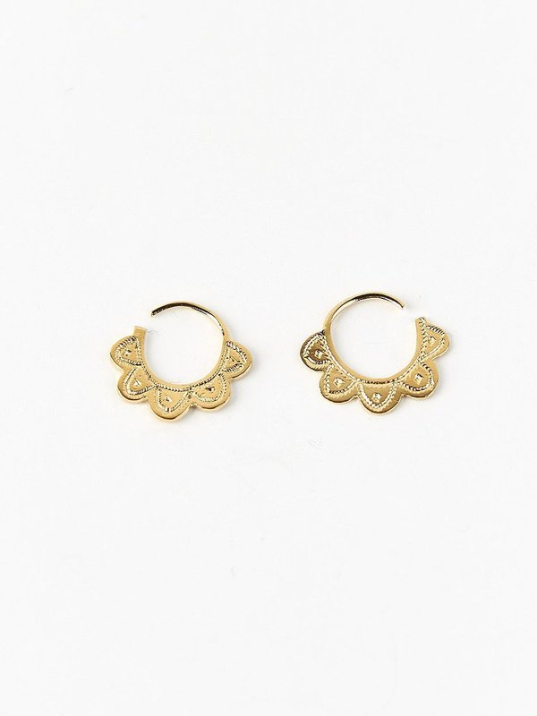 Ombre Claire mini tchat hoops - 24 carat gold
