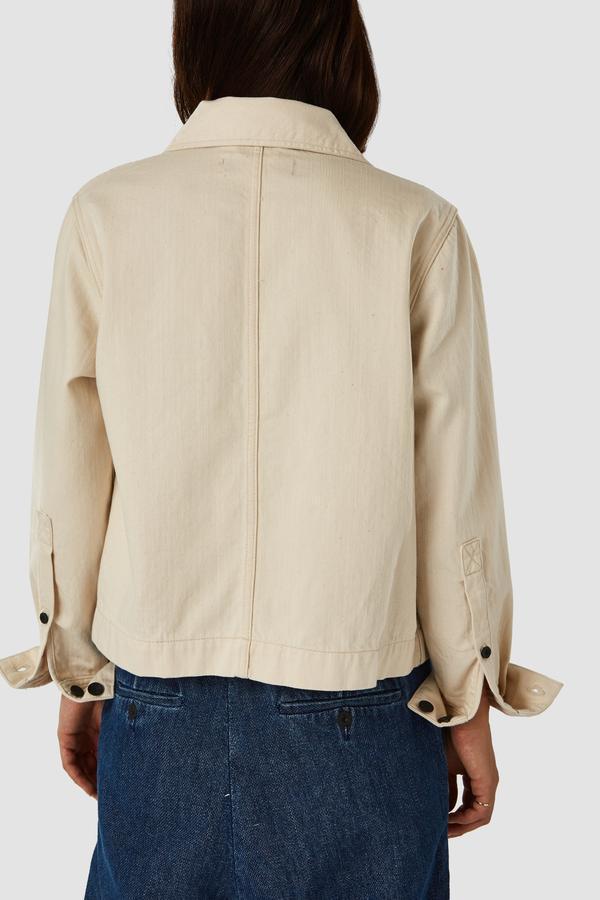 kings of indigo OTA worker jacket - ecru