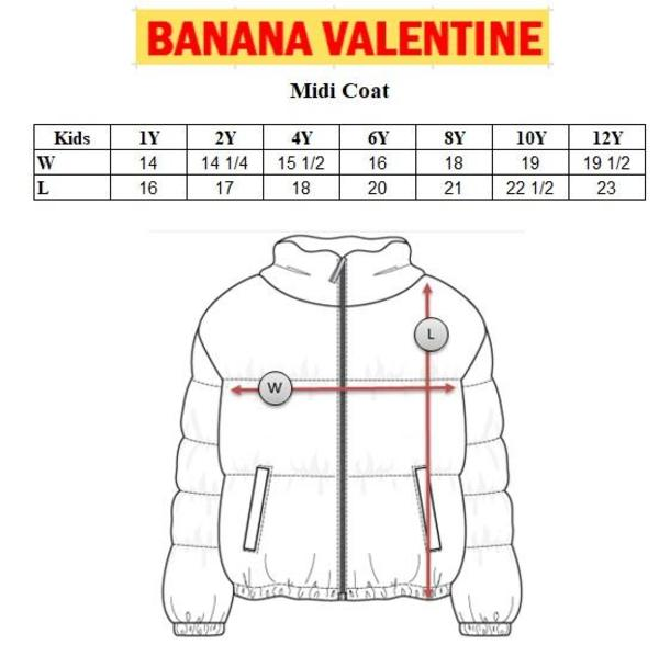Kids Banana Valentine Hearts Midi Coat