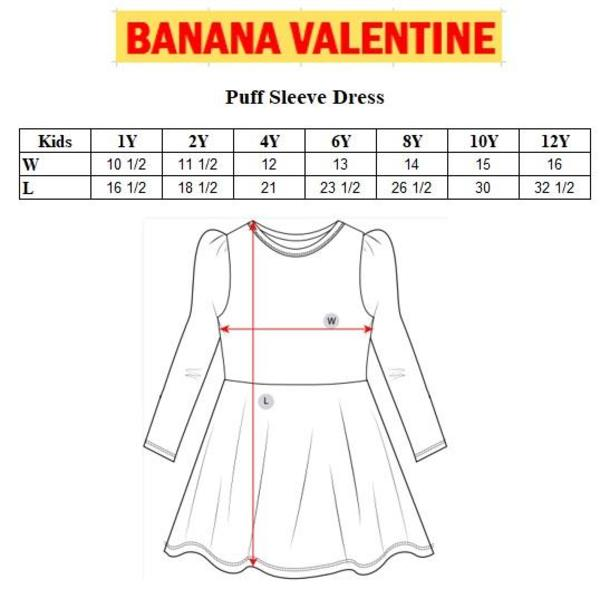 Kids Banana Valentine Snakes Puff Sleeve Dress - Purple