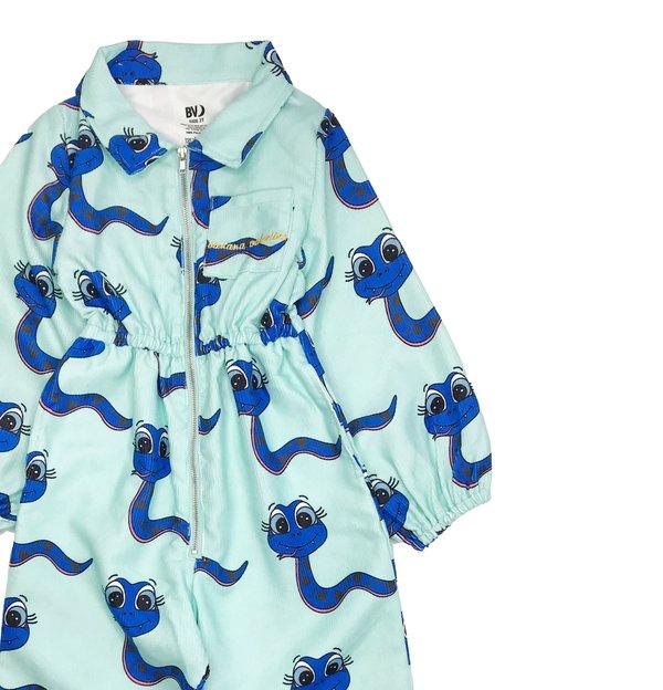KIDS Banana Valentine Snakes Boiler Suit - blue