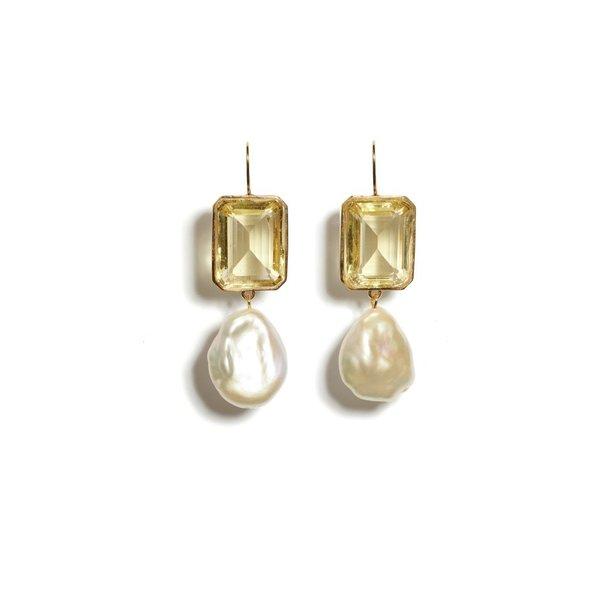 Lizzie Fortunato Aegean' Earrings - Lemon
