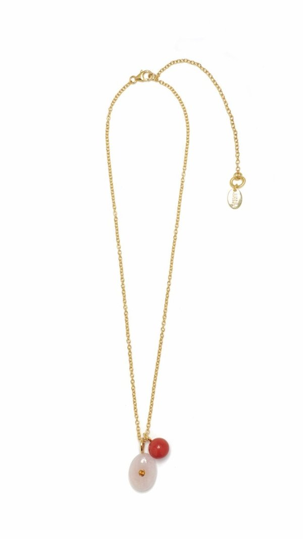 Lizzie Fortunato Strawberry Oasis Necklace