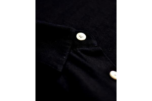 Portuguese Flannel Herringbone Shirt - Indigo
