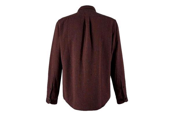 Portuguese Flannel Rude Shirt - Bordeaux