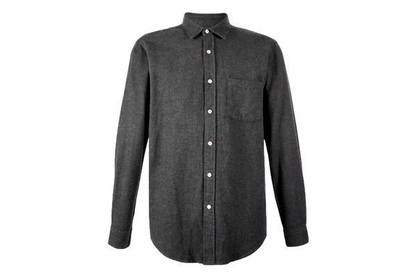 Portuguese Flannel Teca Shirt Button - Grey