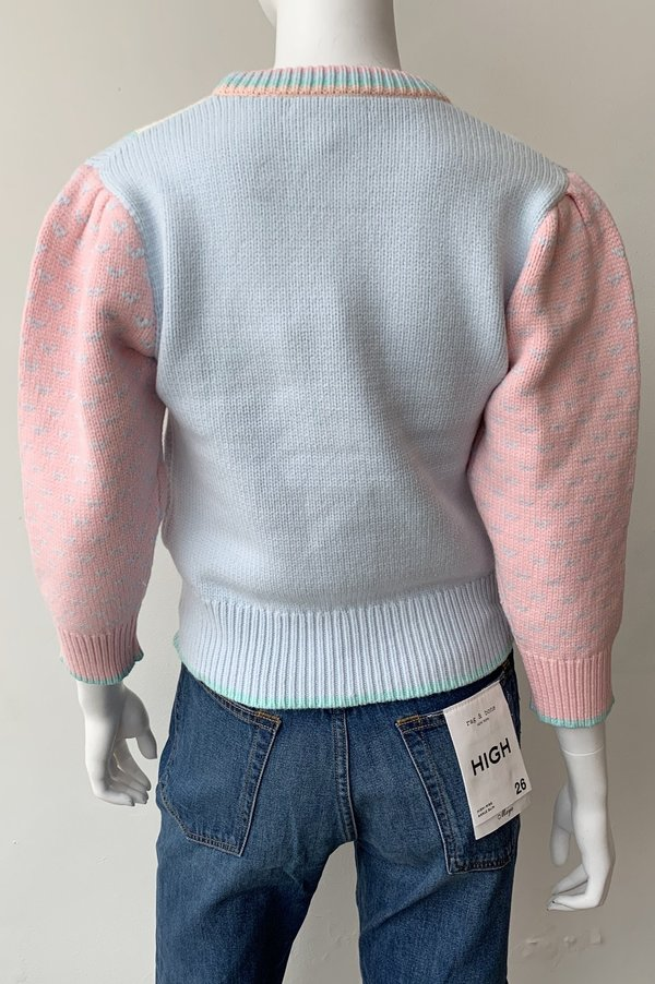 LoveShackFancy Emani Crewneck Pullover Sweater - Fairy Forest Multi
