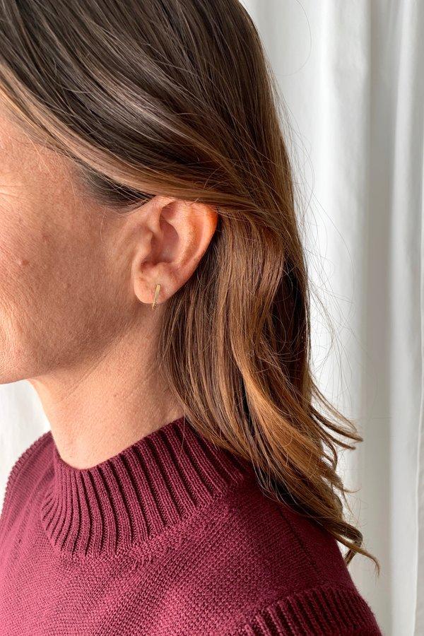 Blanca Monrós Gómez Curved Bar Studs Earing - 14k Reclaimed Gold