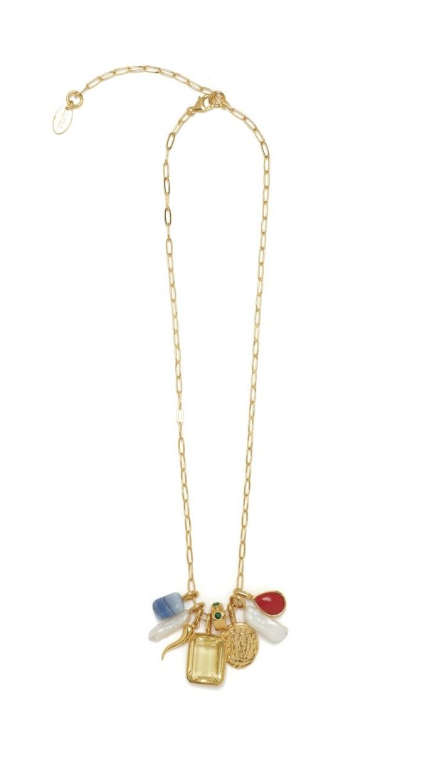 Lizzie Fortunato Citrine Charm Necklace