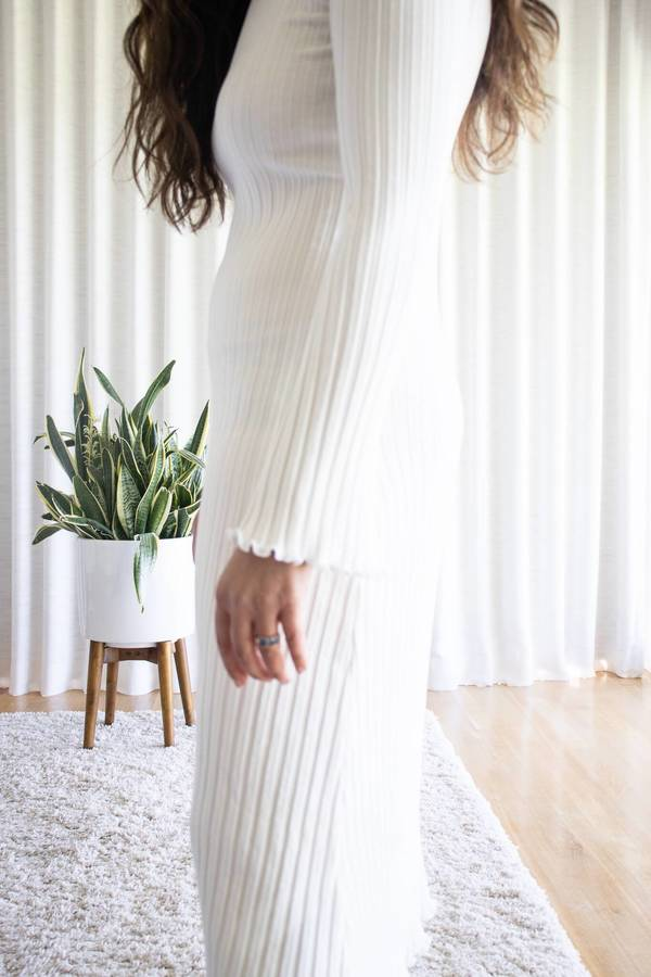 Simon Miller Macadamia Long Sleeve Wells Dress - White